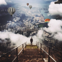 freetoedit cityview panorama cloud steps