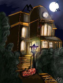 wdphauntedhouse digitaldrawing drawing helloween