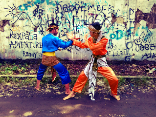 silat blue orange freetoedit fight