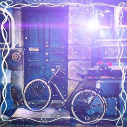 freetoedit art remix lensflareeffect bicycle