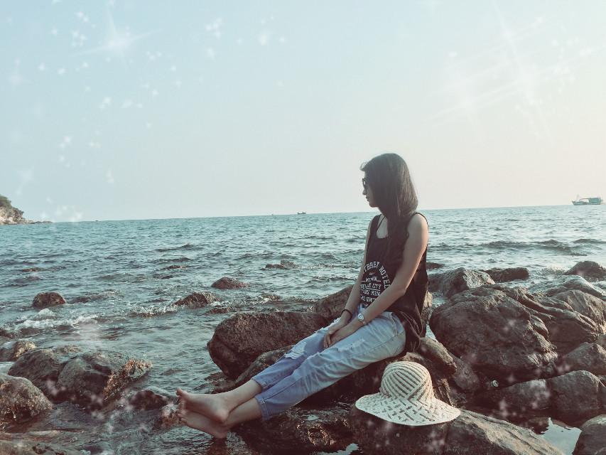 #FreeToEdit #beach #beautiful #sunshine #sky #windy #openmyworld #alonegirl