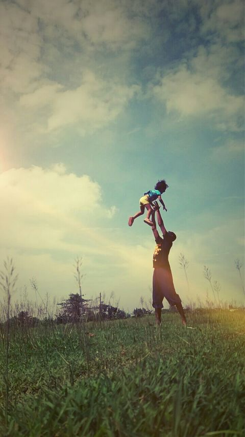 #bond,#family,#field,#sky,#happy